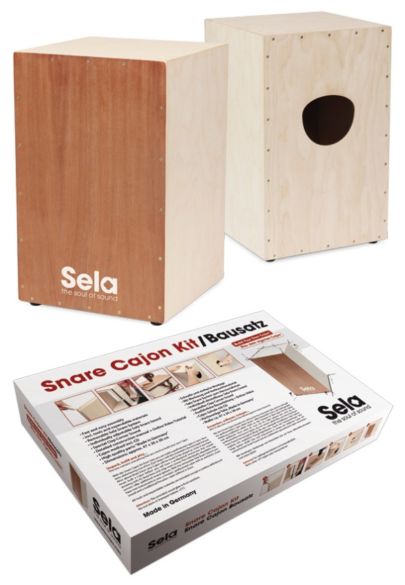 Snare Cajon Kit by Sela. Version 2.0